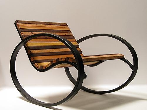 Металлическое кресло качалка из профиля сделать